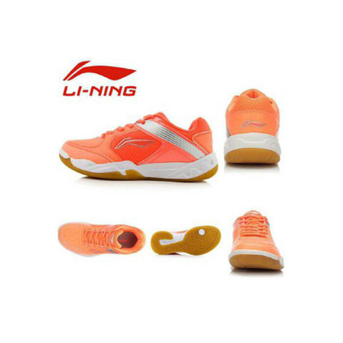 کفش اسکواش لینینگ نارنجی مدل Jacquard