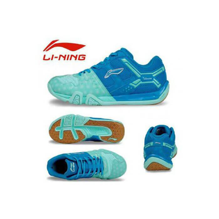 کفش اسکواش لینینگ آبی مدل Saga Lite
