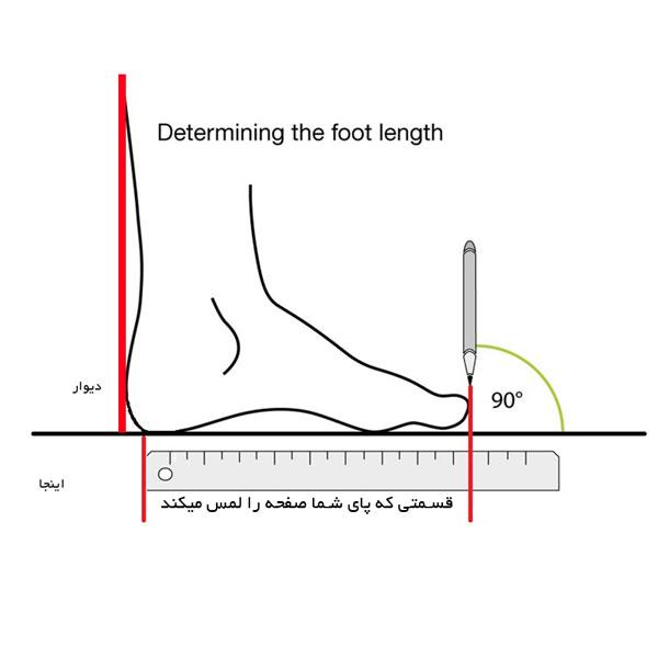 محاسبه دقیق اندازه گیری اندازه پا