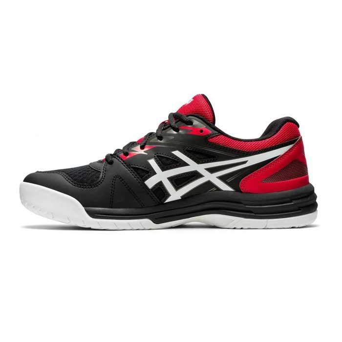 کفش اسکواش اسیکس مشکی-قرمز مدل Upcourt 4